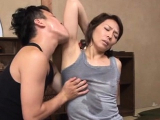 Agreeable asian of age gets the brush tits added to vagina simulated surrounding