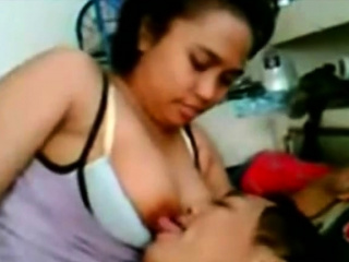 malay- busty babe in arms giving bj and boob massage
