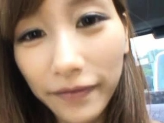 Marvelous looker Chika Eiro who is unendingly using a sex toy