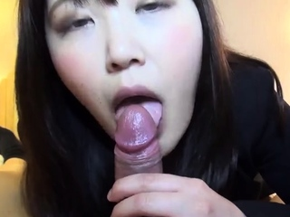 POV Asian homemade sex with sticky creampie